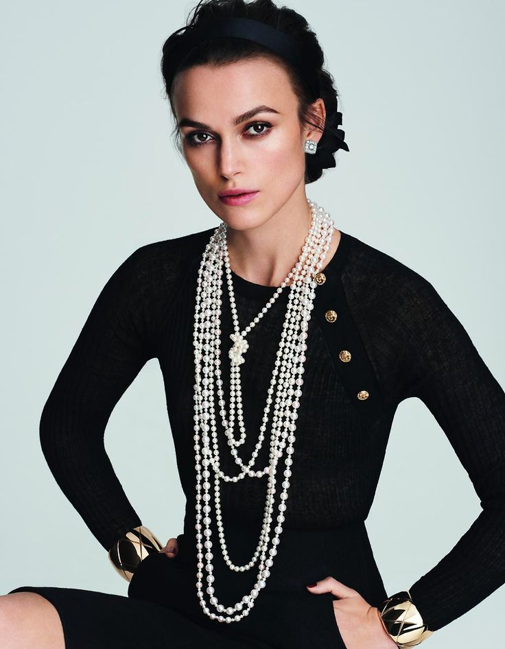 Keira In Chanel style Pearls.