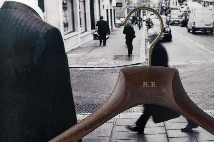 Men's bespoke wooden hangers conquer Savile Row, London