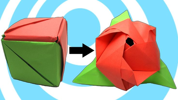 Learn how to make a paper modular origami magic rose cube instructions. This is a great modular origami model made by 6 units. The cube (box) may transformin...