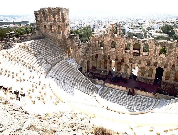 The theatre of Herodus Atticus, can be found next to the Acropolis - Athens, Greece.