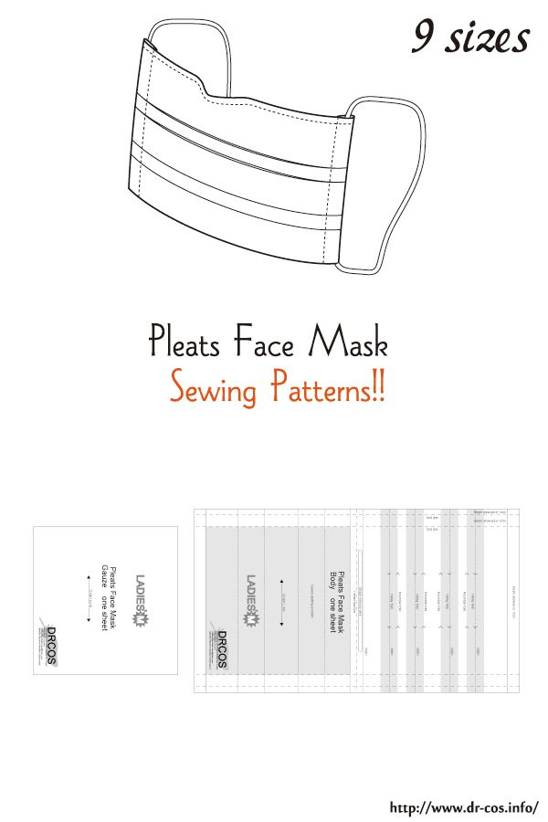 This Is The Pattern Of A Pleats Face Mask Inch Size Letter Size
