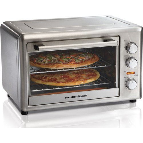 1800W Electric Convection Stainless Steel Non Stick Toaster Oven Kitchen Food