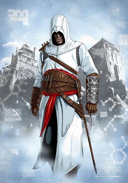 """Altair Ibn La'Ahad (Masyaf 1189)"" Assassin's Creed © Ubisoft"