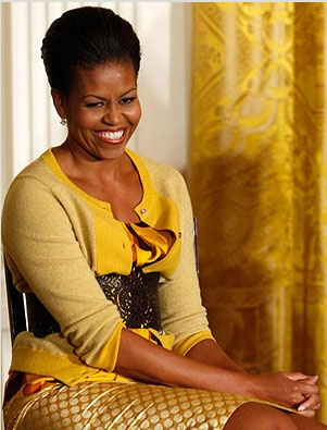 Michelle Obama~Yes to the Yellow Dress