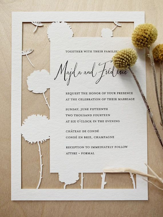 Woodland Papercuts: Papercut wedding invitations & reply cards!