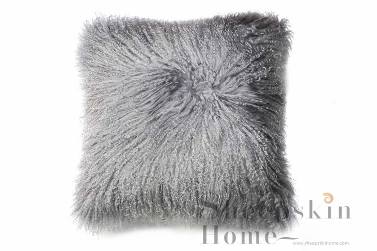 Luxuriously soft & beautifully crafted Mongolian Lamb Pillow by Sheepskin Home.Their softness and warmth offer pure comfort