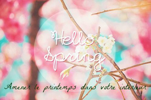 Quelques idées afin d' amener le printemps dans votre intérieur