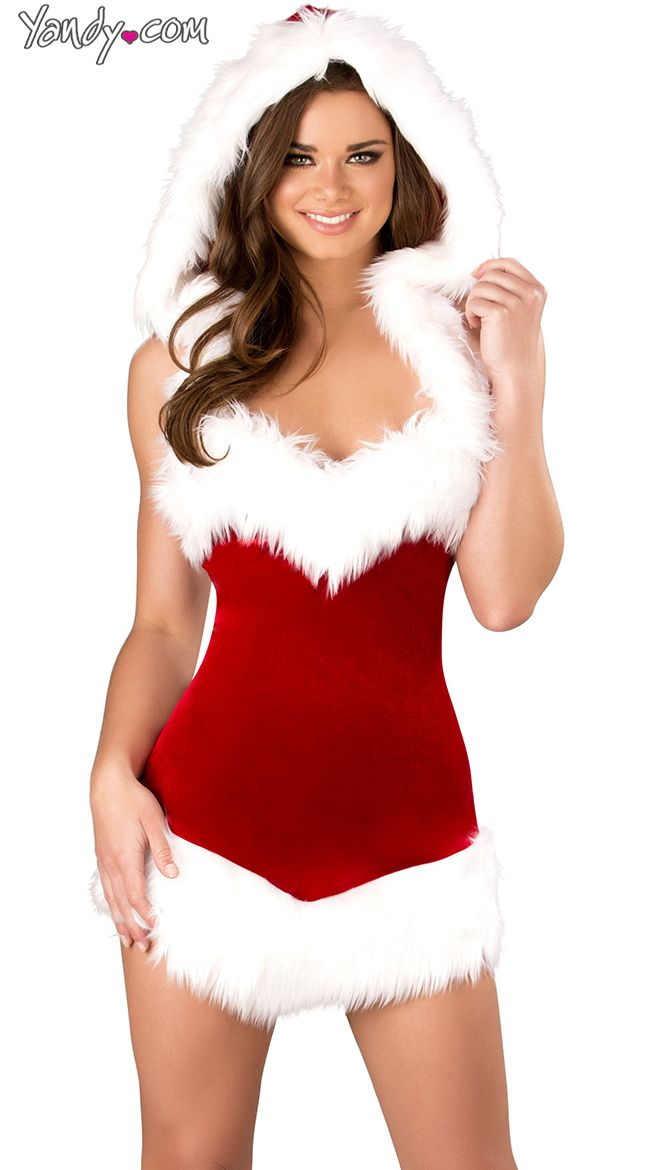 Gorgeous mrs claus with perfect body lingerie nude