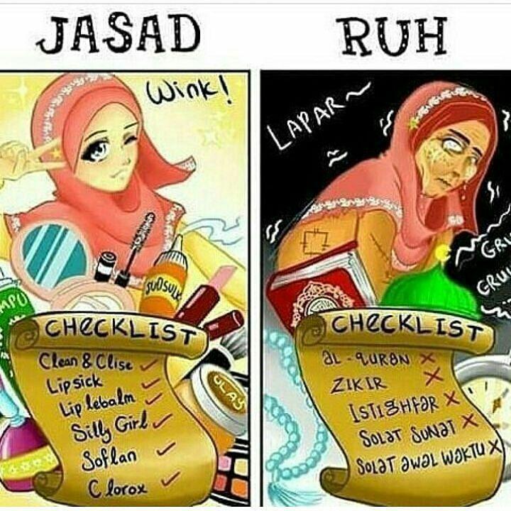 "15k Likes, 64 Comments - Kartun Muslimah  (@kartun.muslimah) on Instagram: ""Mari kita introspeksi diri kita masing-masing ya sahabat  - #Kartunmuslimah"""