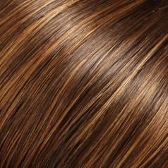 6F27: Caramel Ribbon: Medium Chestnut Brown streaked with Strawberry Blonde