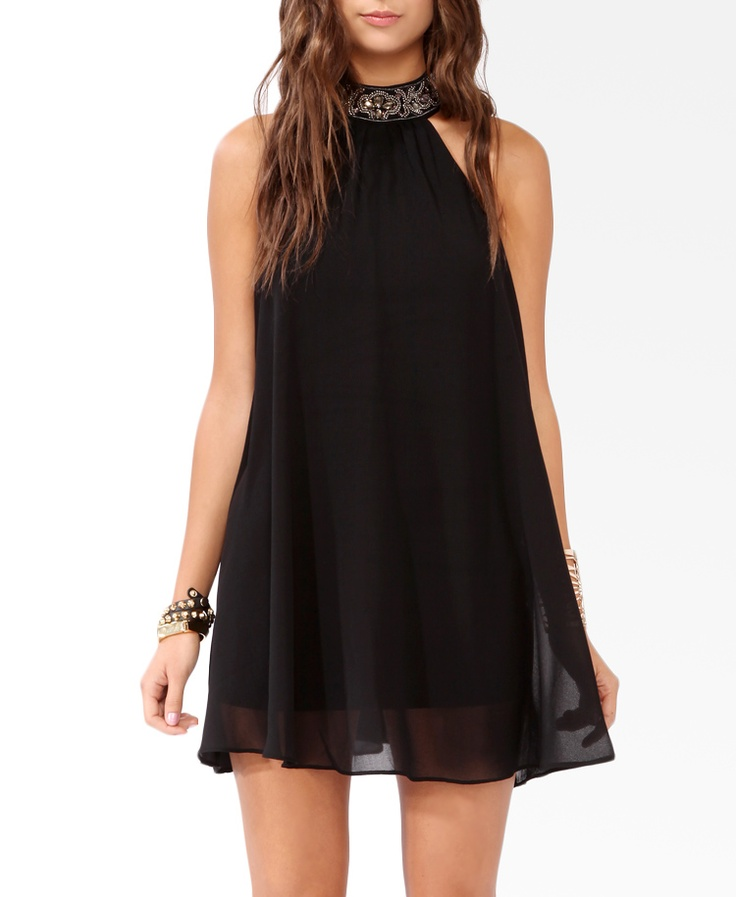 Bejeweled High Neck Dress | FOREVER21 - 2019572021
