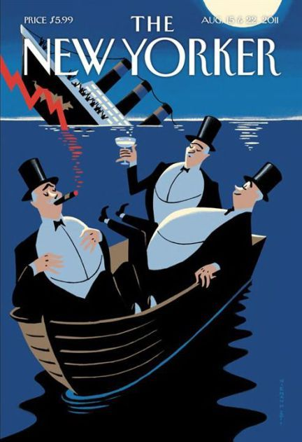The New Yorker cover  Inspiration for rich poster