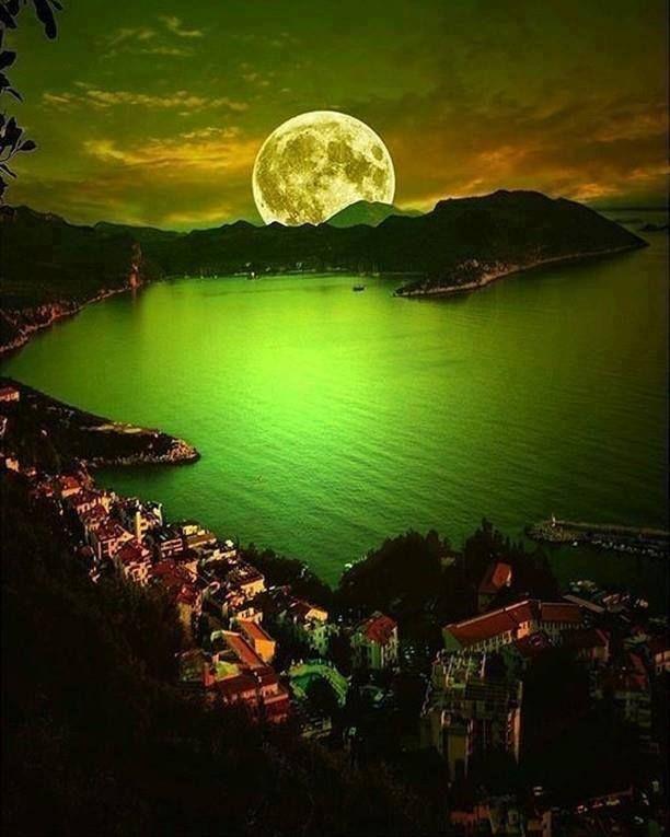 Moonrise in Bolu Turkey