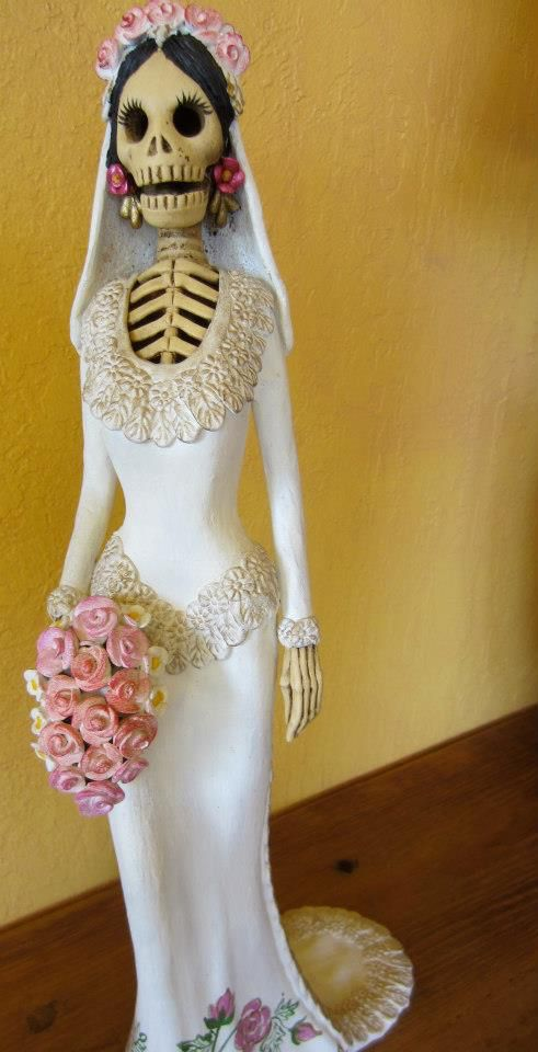 La Novia--clay skeleton (catrina) bride from Capula, Michoacan