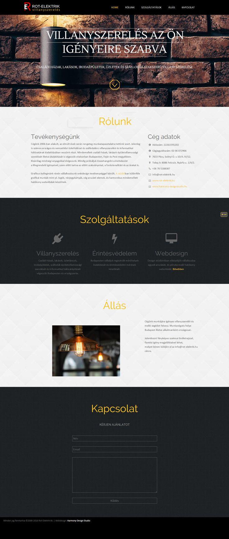 Rot-Elektrik weboldal terv desktop