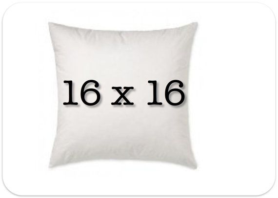 Pillow Insert 16 x 16 Decorative Pillow Form by FestiveHomeDecor, $11.00 need 6 $66