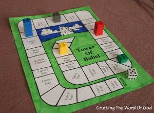 Tower Of Babel Game - can be used after reading and discussion of story