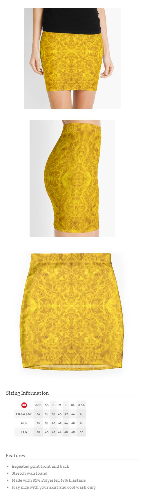 #Lovely #golden #print #skirt.
