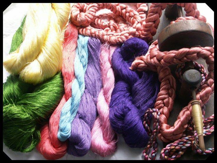 the skeins of silk @ Tessitra Artigiana Gaggioli Zoagli (GE)