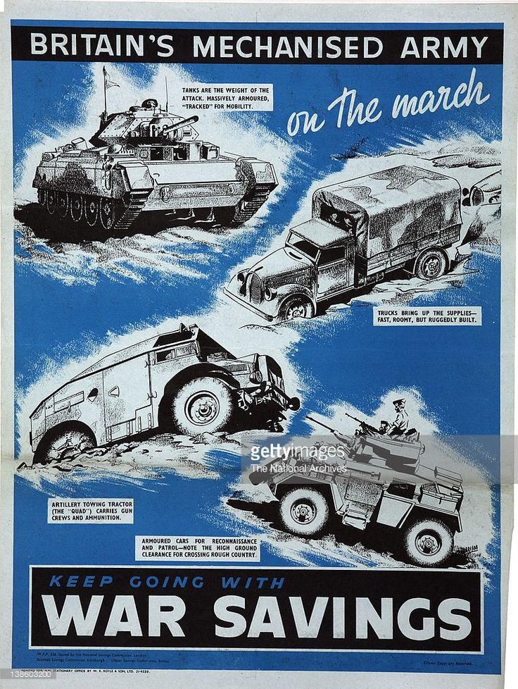 Britain's Mechanised Army on the march 1944