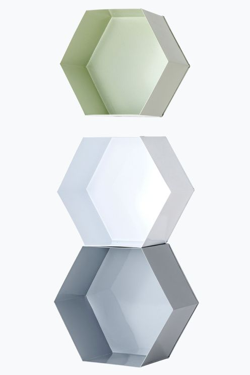Ellos Home Vegghylle Hexagon, 3-pk