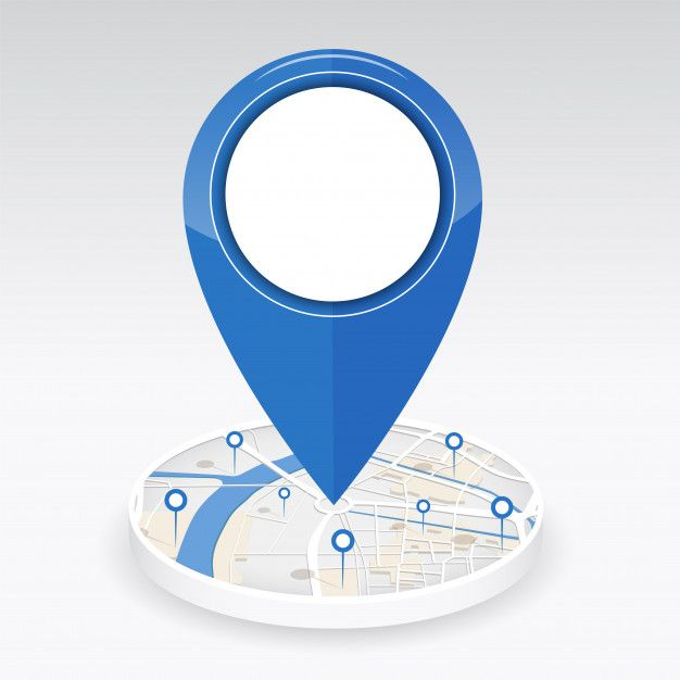 Gps Icon On Center Of The City Map With Pin Location City Map Gps Location Icon