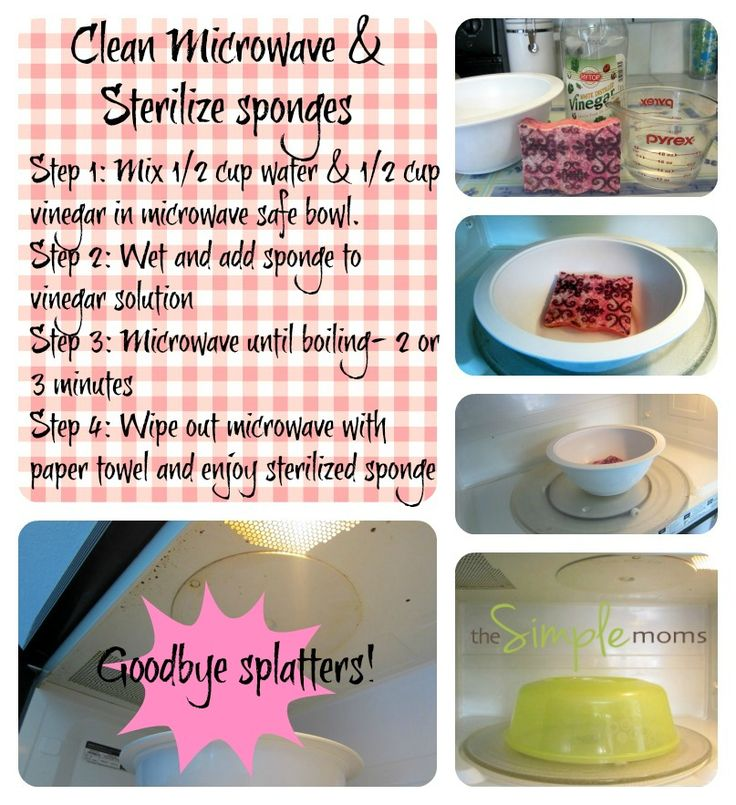 Clean Microwave Splatters And Sterilize Sponges At The