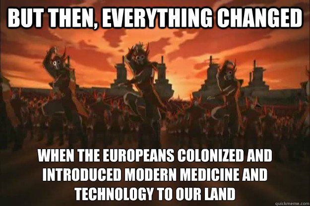 colonizer and colonized relationship memes