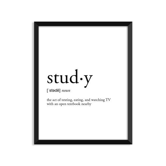 Study Definition College Dorm Room Decor Dorm by footnotestudios
