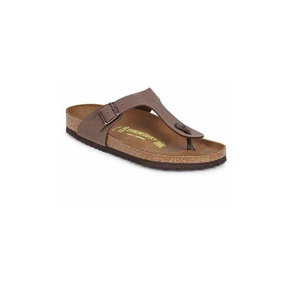Birkenstock GIZEH Flip flops / Sandals (Shoes) (475 SEK) ❤ liked on Polyvore featuring shoes, sandals, flip flops, mocca, women, birkenstock footwear, birkenstock, birkenstock flip flops, birkenstock shoes and synthetic shoes