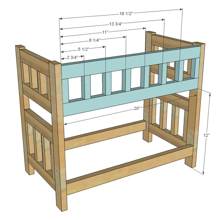 Wooden Doll Bunk Bed Plans Woodworking Projects Plans