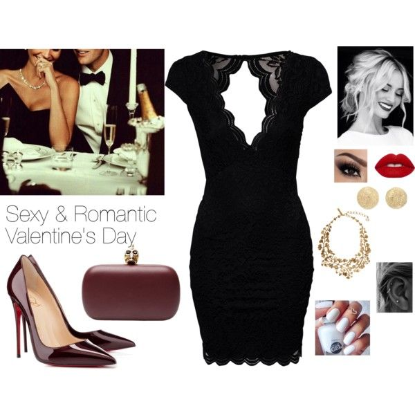 A fashion look from February 2016 featuring John Zack dresses, Christian Louboutin pumps and Alexander McQueen clutches. Browse and shop related looks.