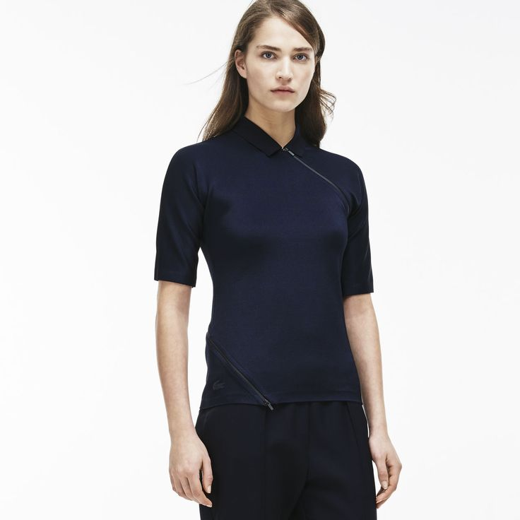 Lacoste Fashion show polo in technical piqué with three quarter sleeves