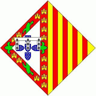 Heráldica Real Portuguesa: Armas de D. Isabel de Aragão