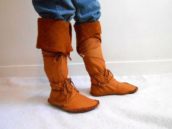 Tall Moccasin Boots Custom Made To Order Mountain Man