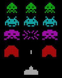 クロスステッチ参考(インベーダーゲーム)