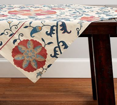 Rozelle Suzani Embroidered Table Throw
