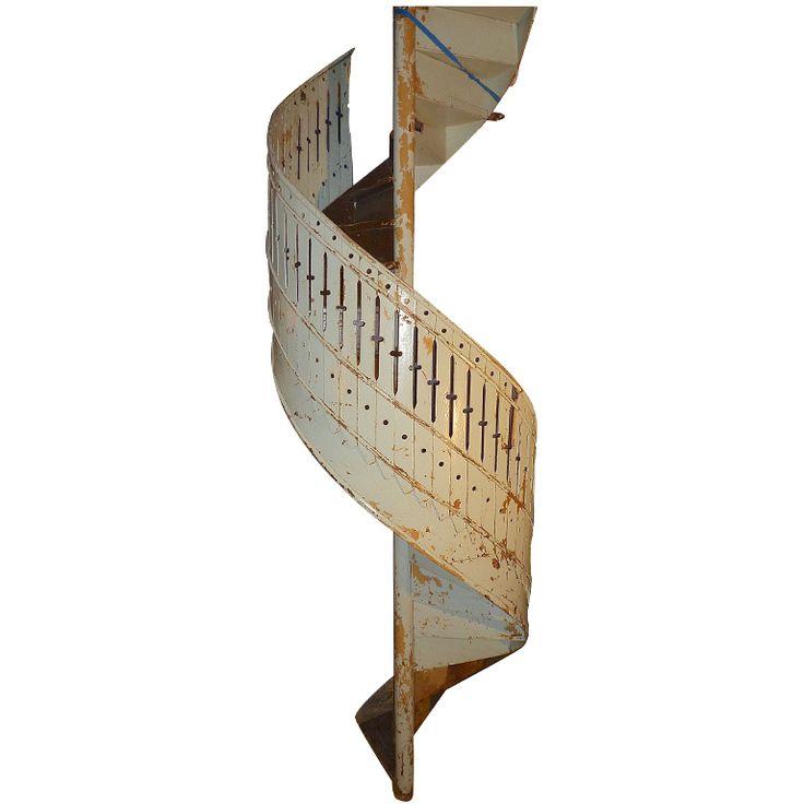 French 19th Century Spiral Staircase. Xavier Nicod/1stdibs