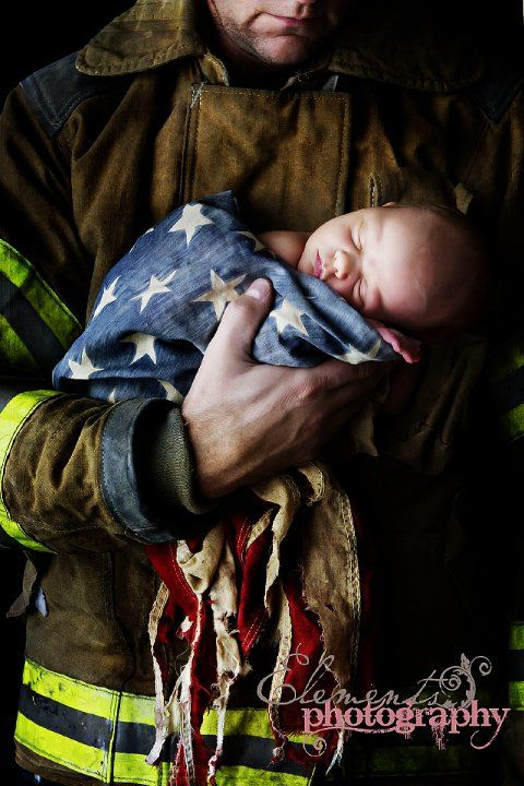 .: Photos, Firefighters Baby, Ideas, Heroes, Pictures, Fire Fighter, Military Uniforms, New Baby, Photography