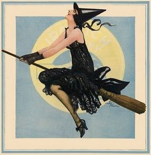 witchVintage Halloween, Modern Witches, Hallows Eve, Witchy Woman, Halloween Vintage, Vintage Witches, Witchy Stuff, Flappers Witches, Happy Halloween