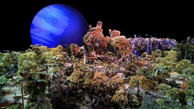 "A sneak peek at Disney's ""Avatar"" land at Animal Kingdom in Orlando, Florida. #avatar #wdw #d23expo"