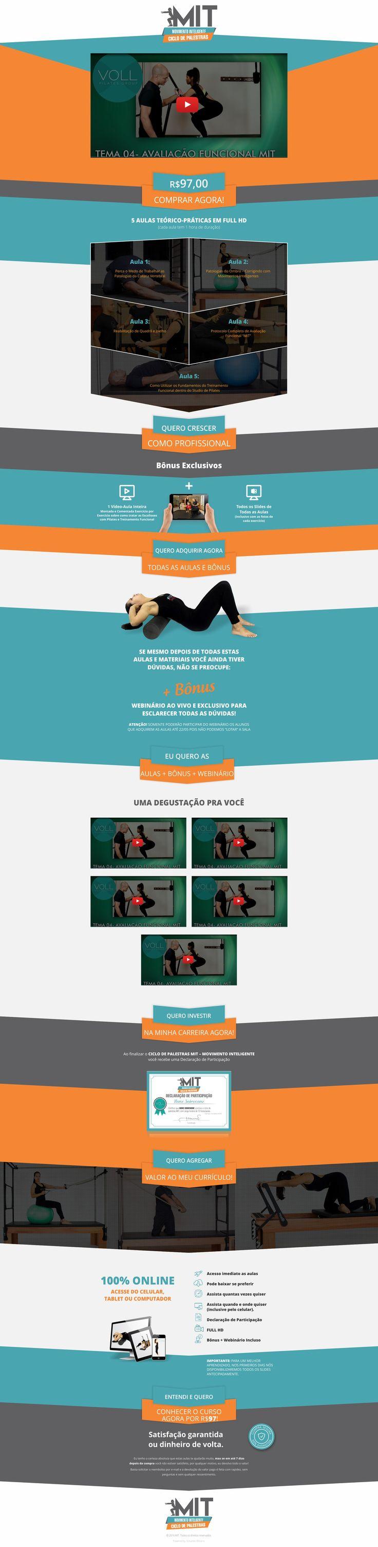 Site criado para o curso de pilates MIT. O site pode ser visto em http://formacaomit.com.br/palestras