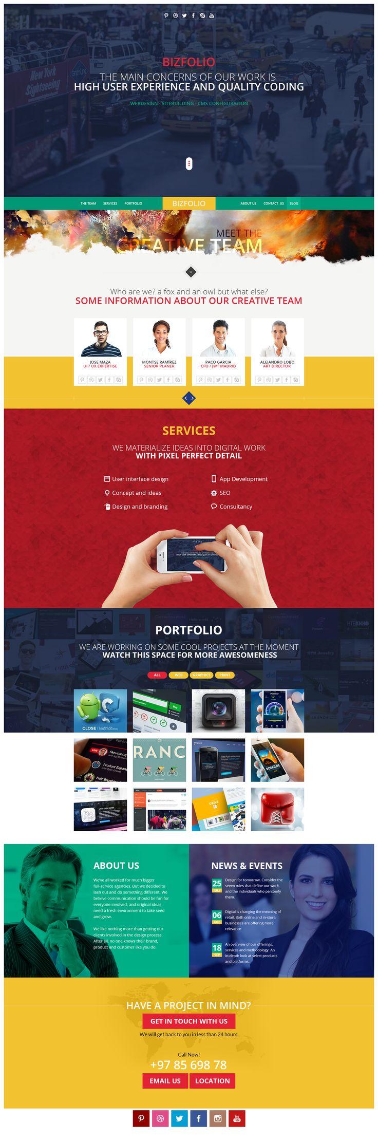 Single Page Web Layout by pixelzeesh - 26227