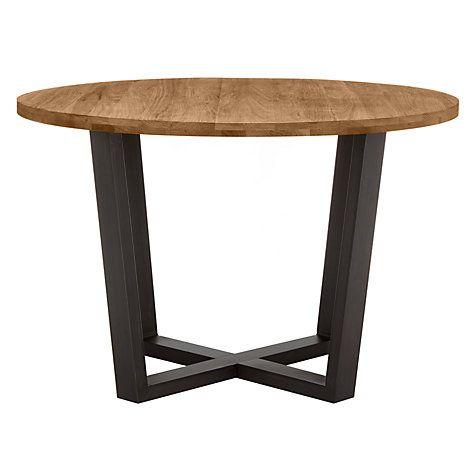 John Lewis Calia Round 6 Seater Dining Table, Dark