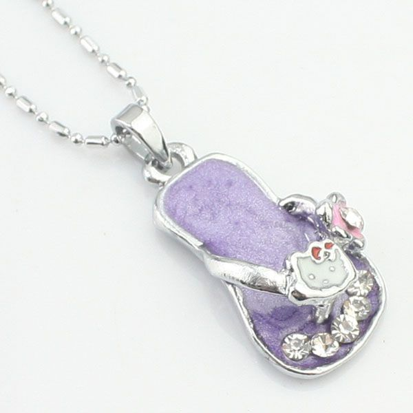Collier strass violet pas cher