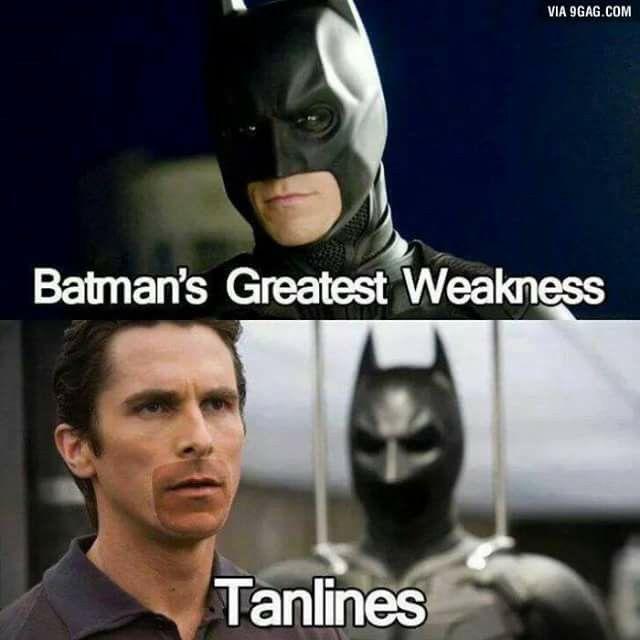 Batman's tanlines