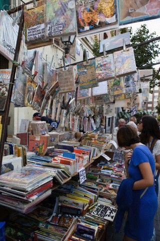 Spain, Madrid, El Rastro Flea market. Open on Sundays