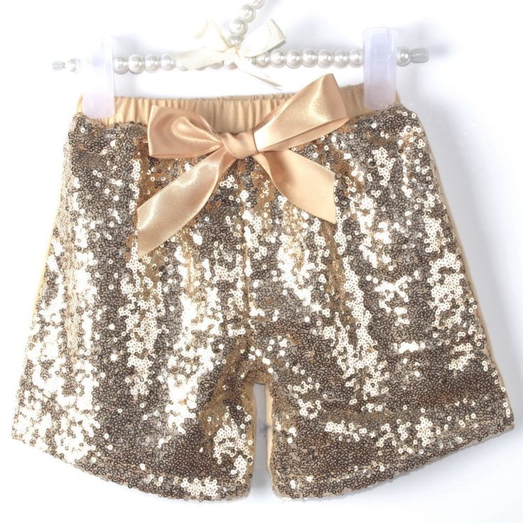 Gold Sequin Short Set