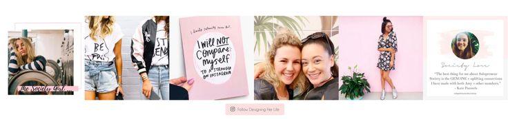 Designing Her Life | Website Instagram Feed Design