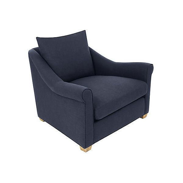 Frasier Roll Arm Club Chair Navy Accent U0026 Occasional Chairs ($1,399) ❤ Liked
